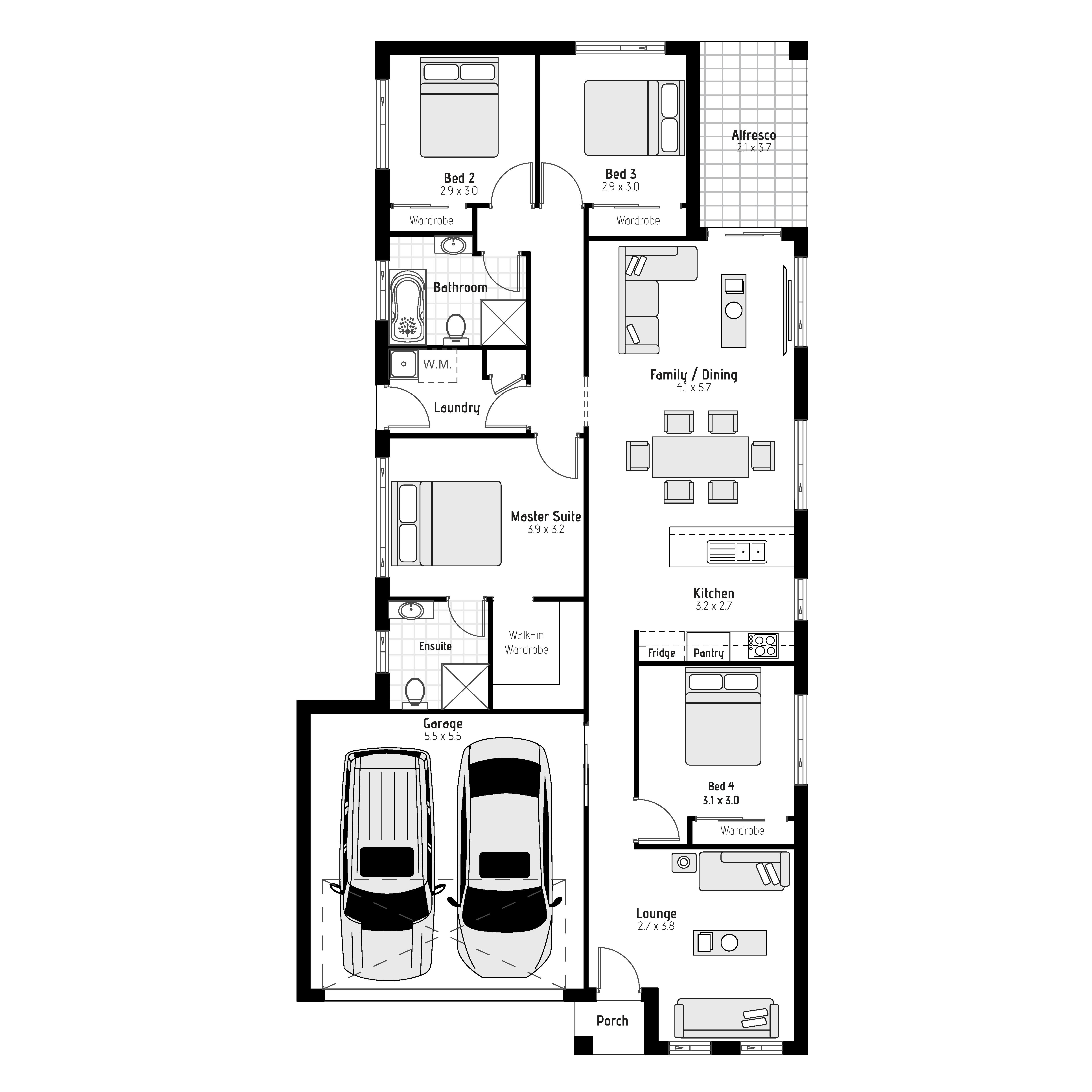 Acacia MKI Floor Plan Image