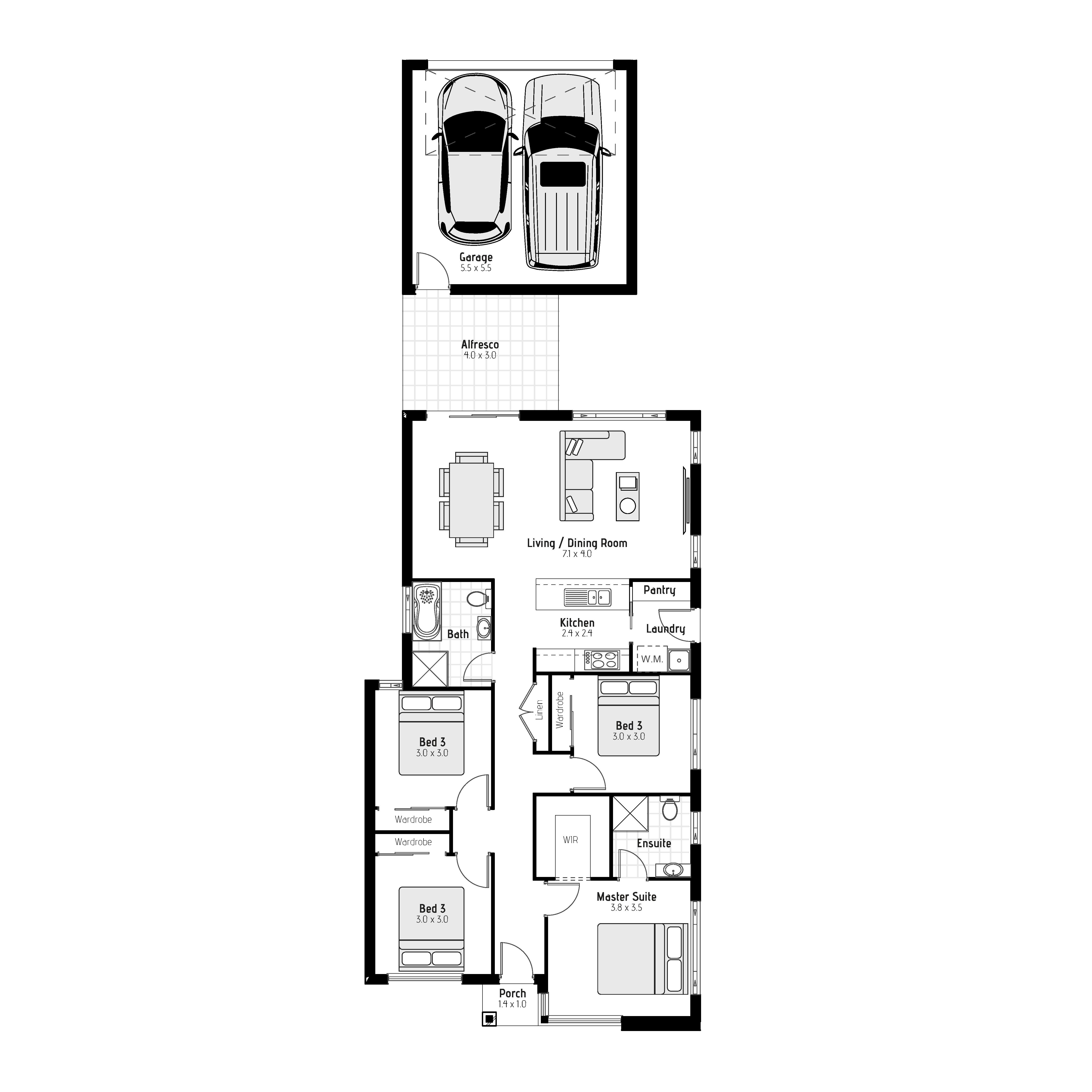Lomandra - Rear loaded Floorplan