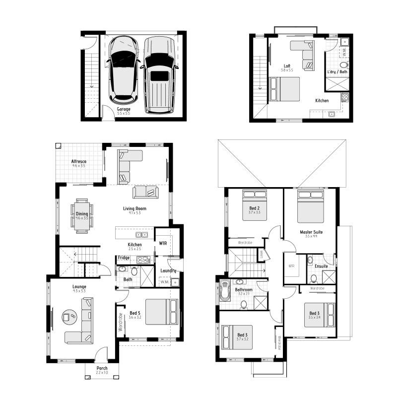 Macleay MKII - Rear loaded Floorplan