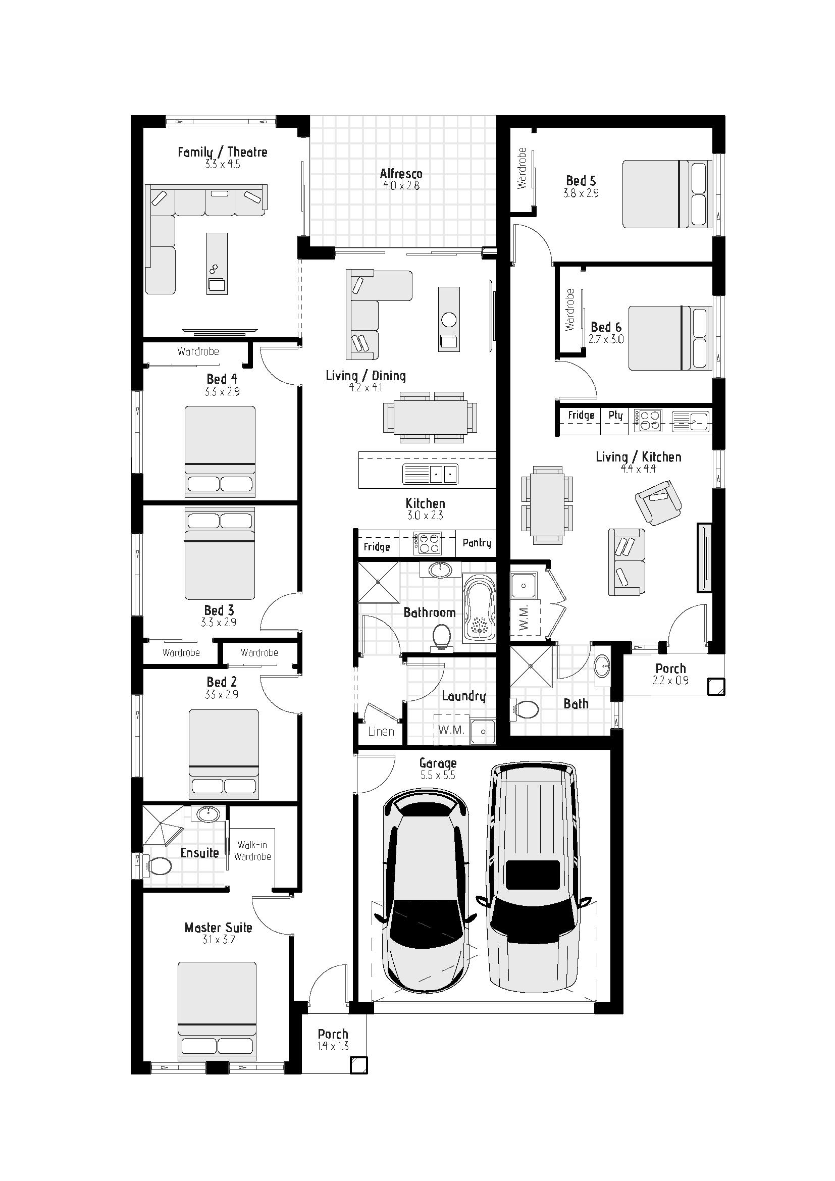 Waratah MKI Floorplan