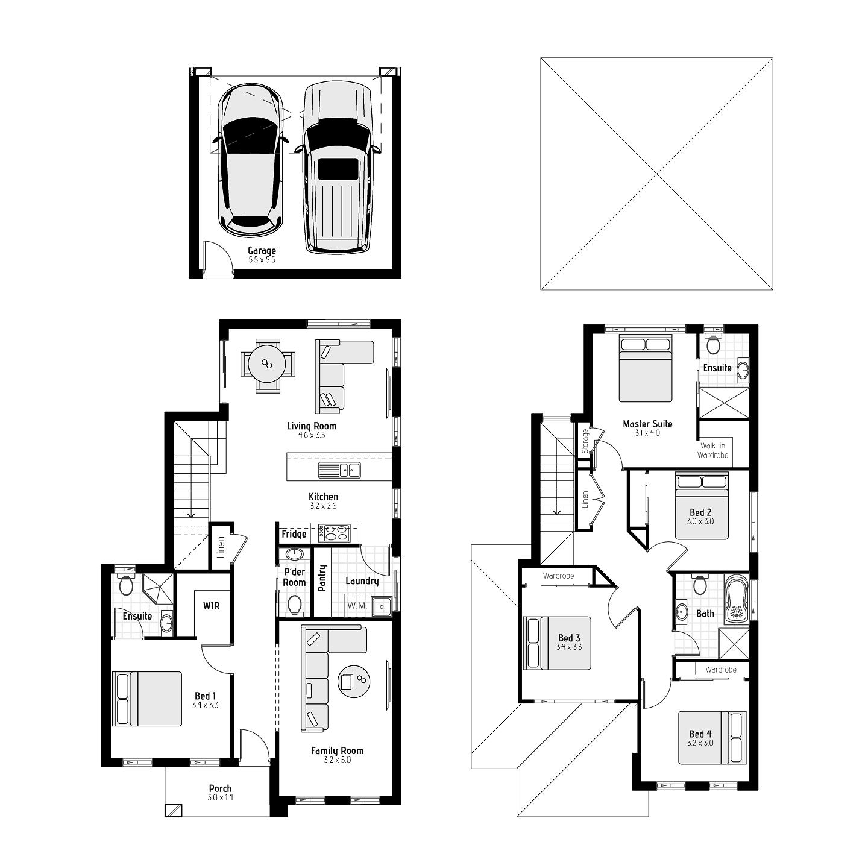 Macleay MKI – Rear loaded Floorplans