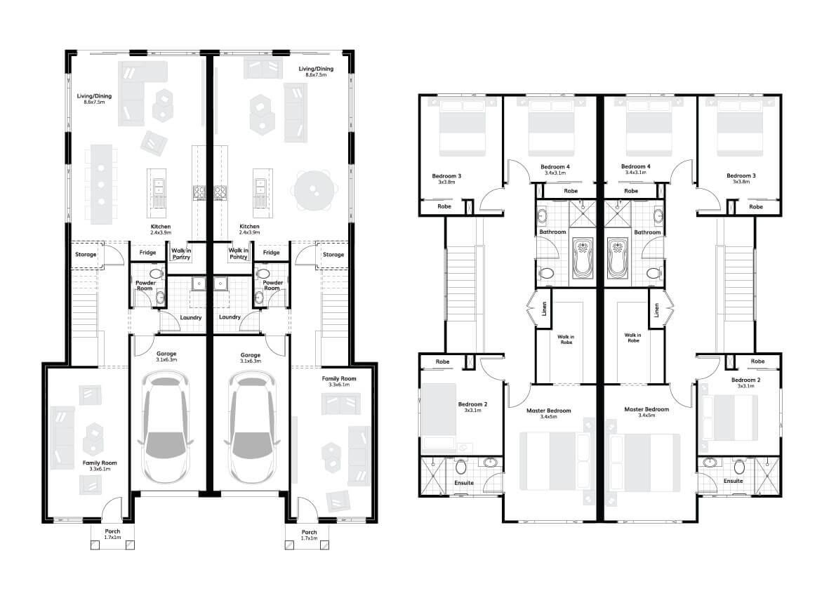 Chelsea 47 – Dual Occ Floorplans
